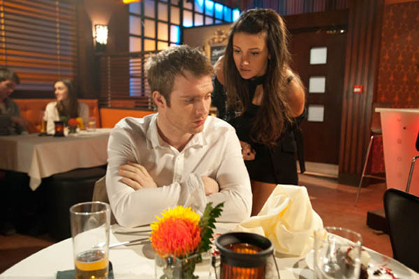 Corrie's Michelle: 'Tommy ruins the date!'