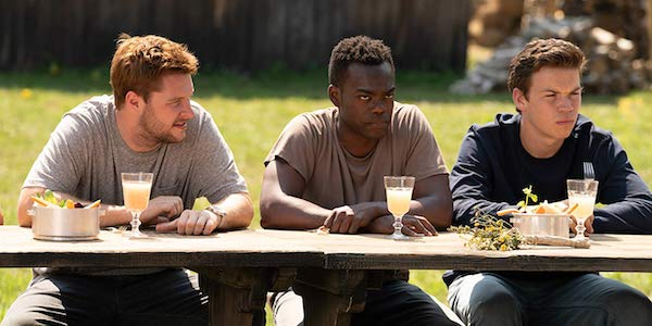Jack Reynor, William Jackson Harper and Will Poulter in Midsommar