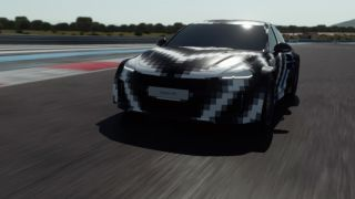 The Vision FK concept on a race track