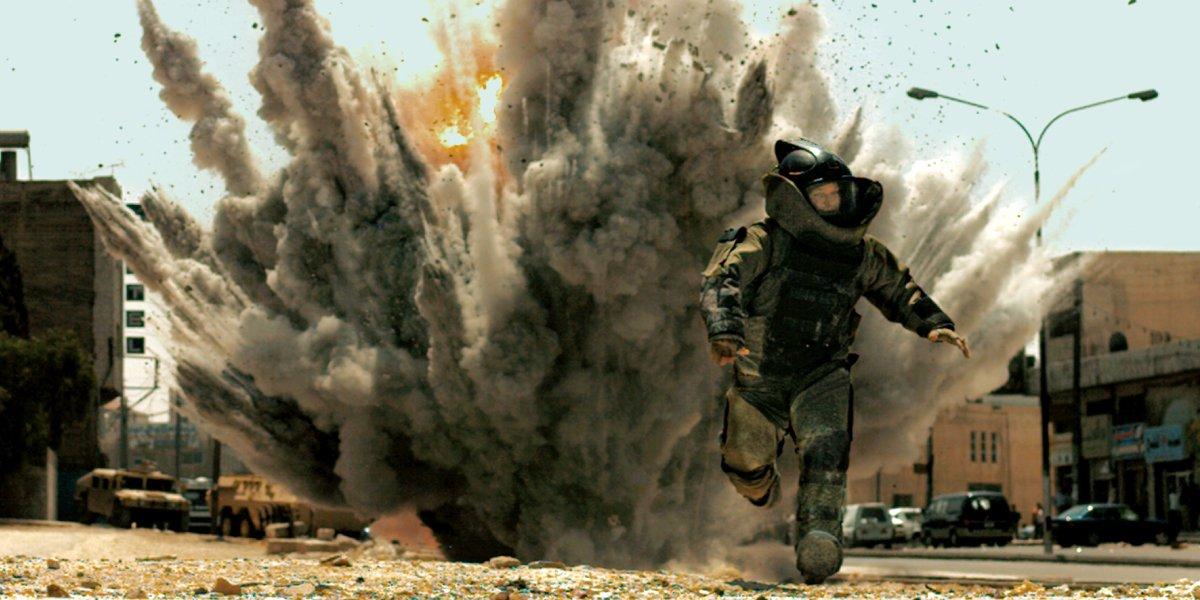 An explosive scene from The Hurt Locker, directed by Kathryn Bigelow