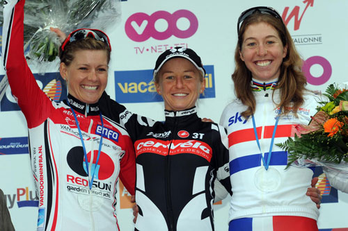 Pooley, Cooke, Johansson, Women's Fleche Wallonne 2010