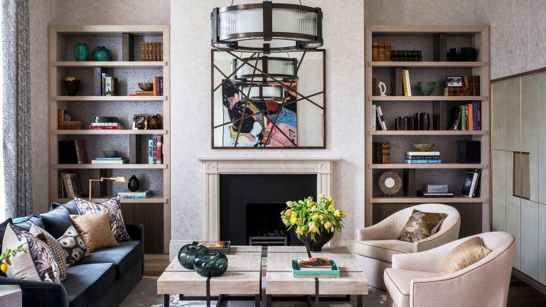 Living room shelving ideas for the alcove