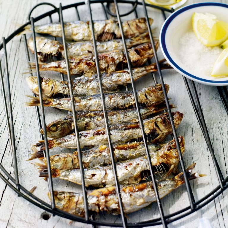 Char-Grilled Sardines with Lemon and Sea Salt Recipe-recipe ideas-new recipes-woman and home
