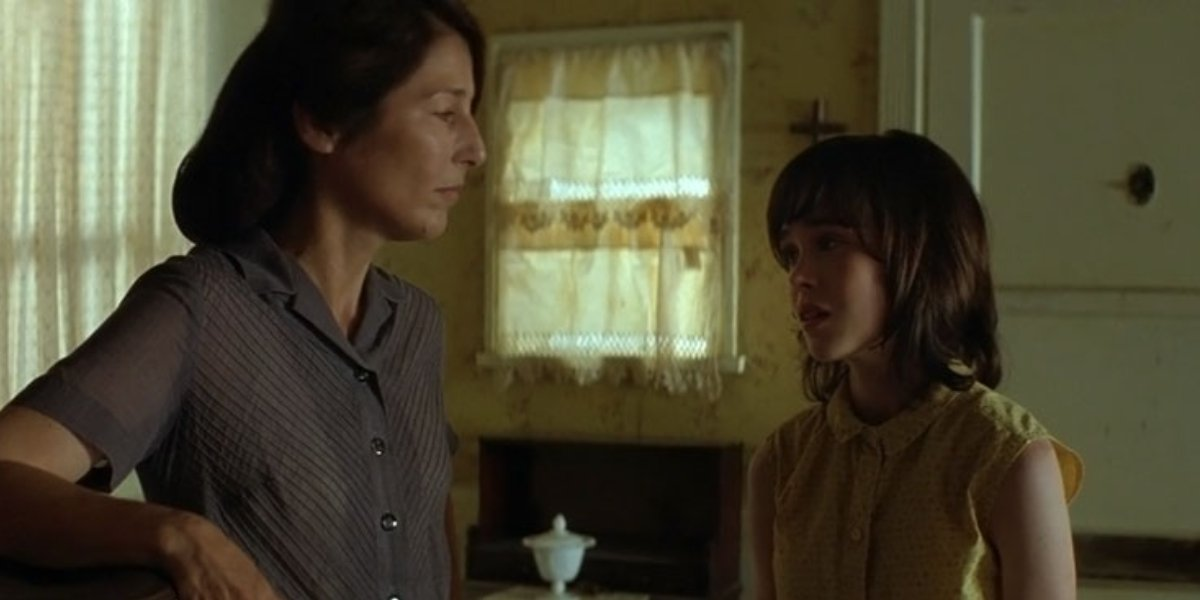 Catherine Keener and Elliot Page in An American Crime