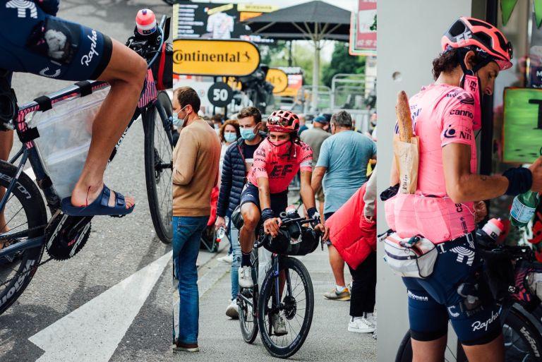 Lachlan Morton riding 'The Alt Tour' on the 2021 Tour de France route