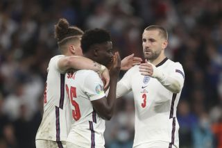 Luke Shaw said the whole England team would support Bukayo Saka after he missed the decisive penalty in the Euro 2020 final.