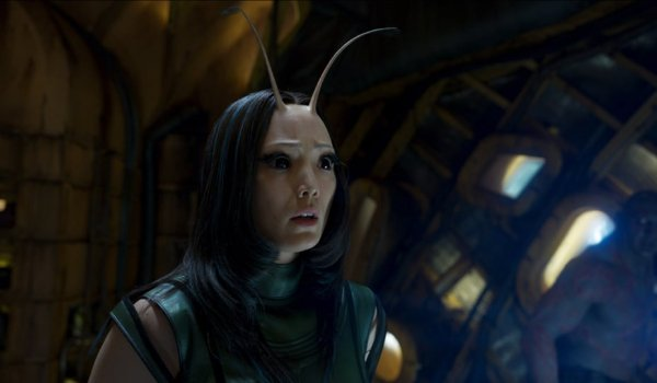 Avengers: Infinity War Mantis looks concerned on board the Benatar