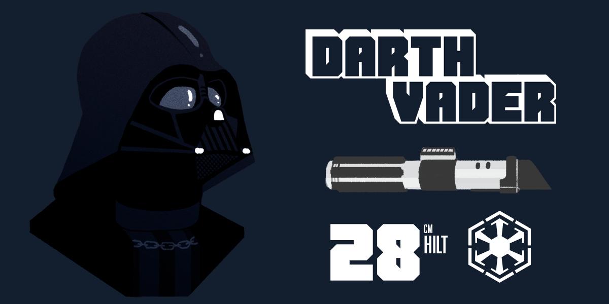 Darth Vader and his lightsaber statistics