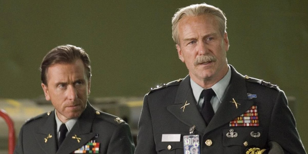 Tim Roth and William Hurt in The Incredible Hulk