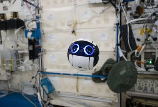 The Japan Aerospace Exploration Agency's JEM Internal Ball Camera, called Int-Ball, can record video in space while remote controlled from the ground.