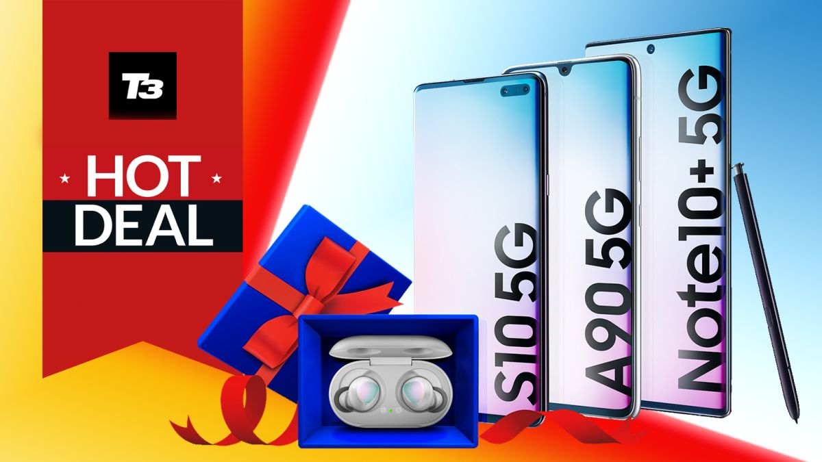 Samsung Galaxy phone deal bags S10, A90 or Note10+ 5G with free Galaxy Buds gift