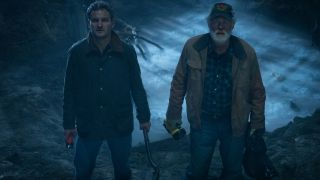 Jason Clarke and John Lithgow in Pet Sematary.