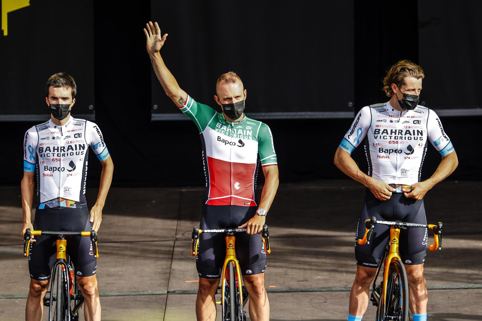 Tour de France 2021 - 108th Edition - Teams Presentation - Brest - 24/07/2021 - Sonny Colbrelli (ITA - Bahrain Victorious) - photo Luca Bettini/BettiniPhoto©2021