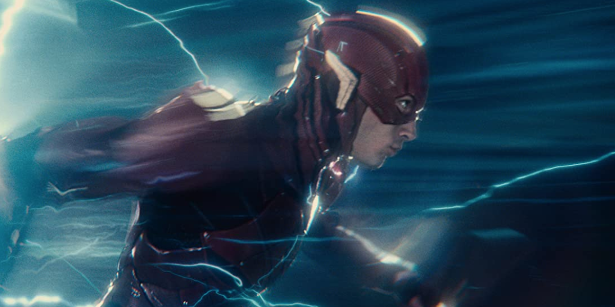 Flash running in Justice League