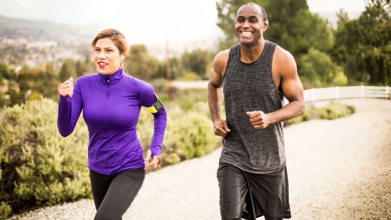 Couple keeping fit over 40