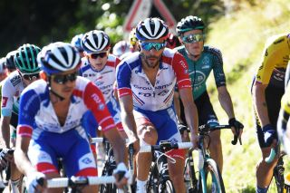 Thibaut Pinot on stage 4 of the Tour de France