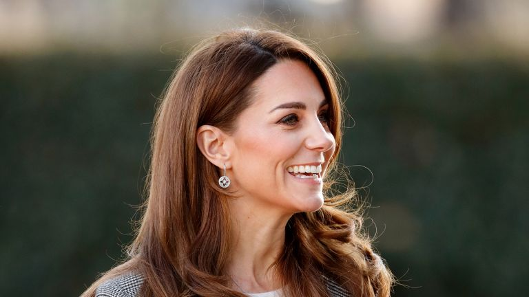 Kate Middleton, Catherine Duchess of Cambridge, attends Shout's Crisis Volunteer celebration event at Troubadour White City Theatre on November 12, 2019