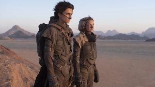 Rebecca Ferguson and Timothée Chalamet in Dune.