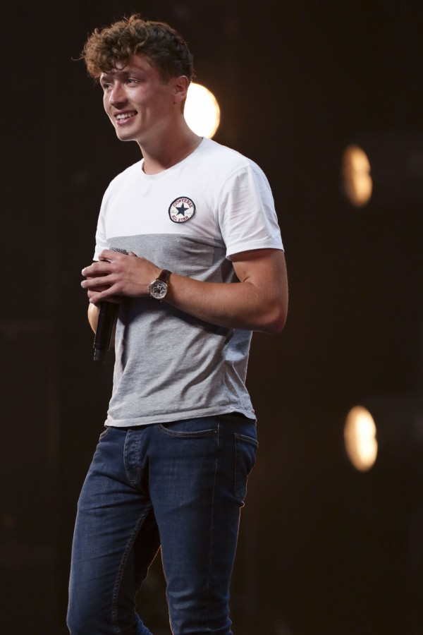 Joe Waller during the audition stage for The X Factor (SYCO/Thames TV)