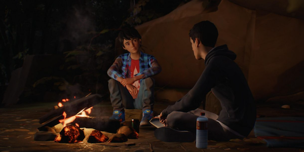Daniel and Sean around a campfire in Life is Strange 2