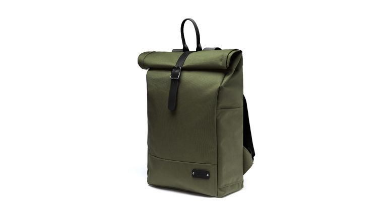 The minimalist and spacious Alban cycling roll top backpack is perfect for the autumn/winter season