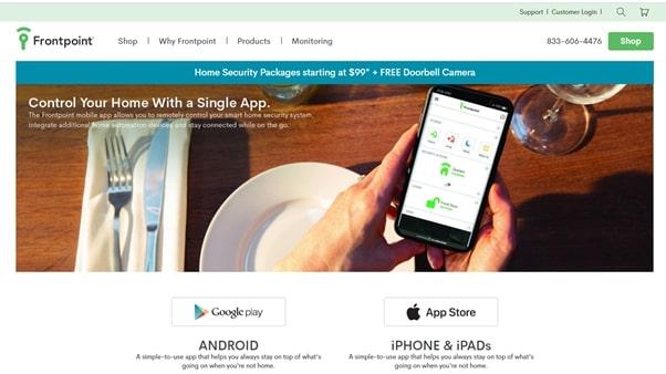 frontpoint smartphone app