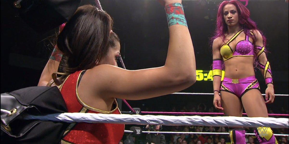 Bayley and Sasha Banks at NXT TakeOver: Respect