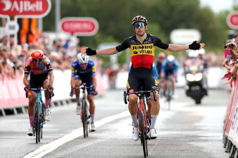 Wout van Aert wins his third stage of the Tour of Britain 2021