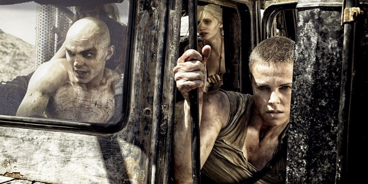 Nicholas Hoult and Charlize Theron in Mad Max: Fury Road