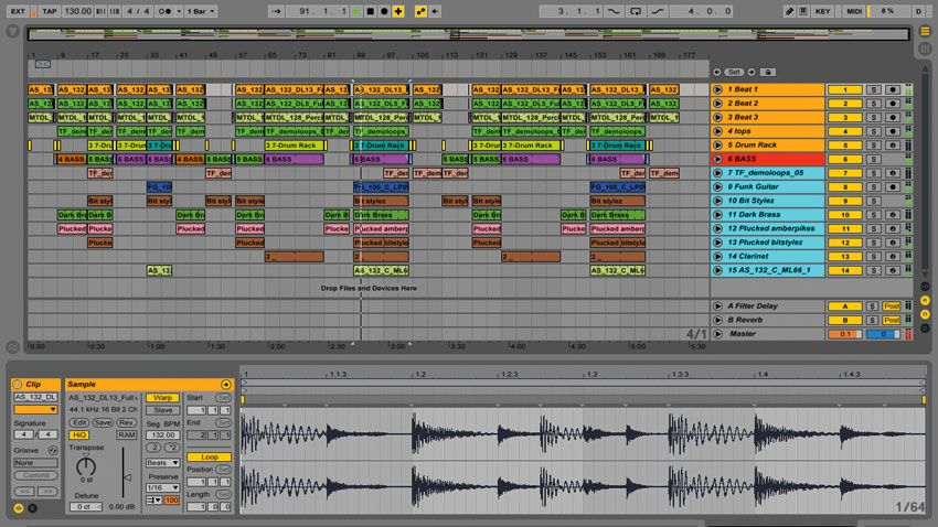how to arrange tracks in ableton live going from session to arrangement view musicradar. Black Bedroom Furniture Sets. Home Design Ideas