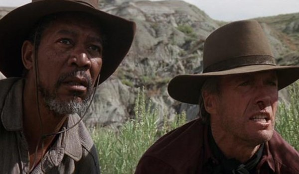 Morgan Freeman and Clint Eastwood in Unforgiven