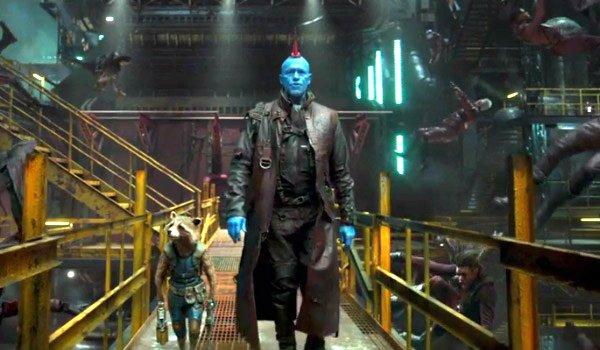 Yondu (Michael Rooker) walking with rocket