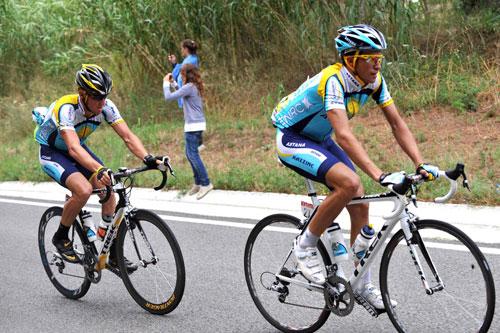 Alberto Contador, Lance Armstorng, Tour de France 2009, stage 6