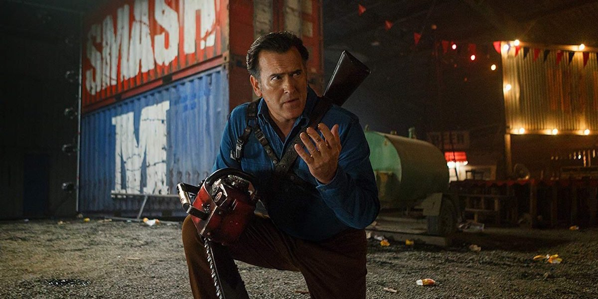 Bruce Campbell as Ash Williams in Ash vs. Evil Dead