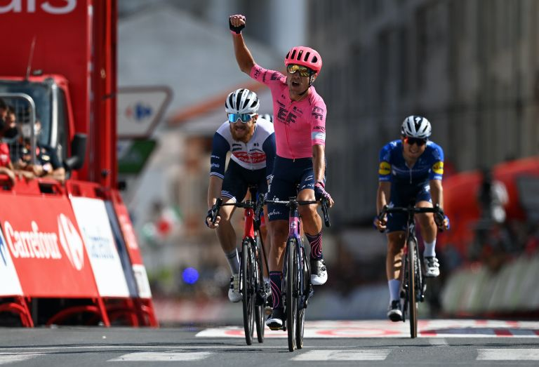 Magnus Cort wins stage 19 of the 2021 Vuelta a España