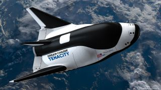 An artist's rendition of Tenacity in space.