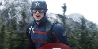 Wyatt Russell as John Walker/Captain America in The Falcon and the Winter Soldier.