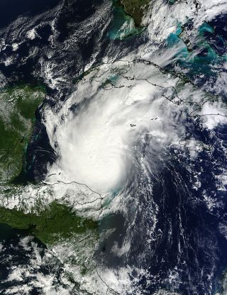 This image of Hurricane Rina was taken by NASA's Terra satellite on Oct. 24, 2011.