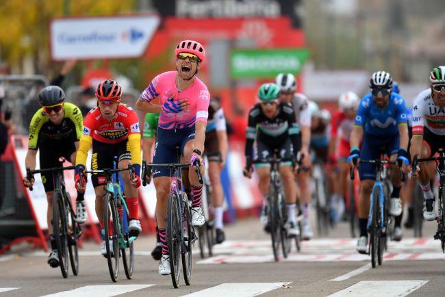 La vittoria di Magnus Cort Nielsen a Ciudad Rodrigo (foto Getty Images)