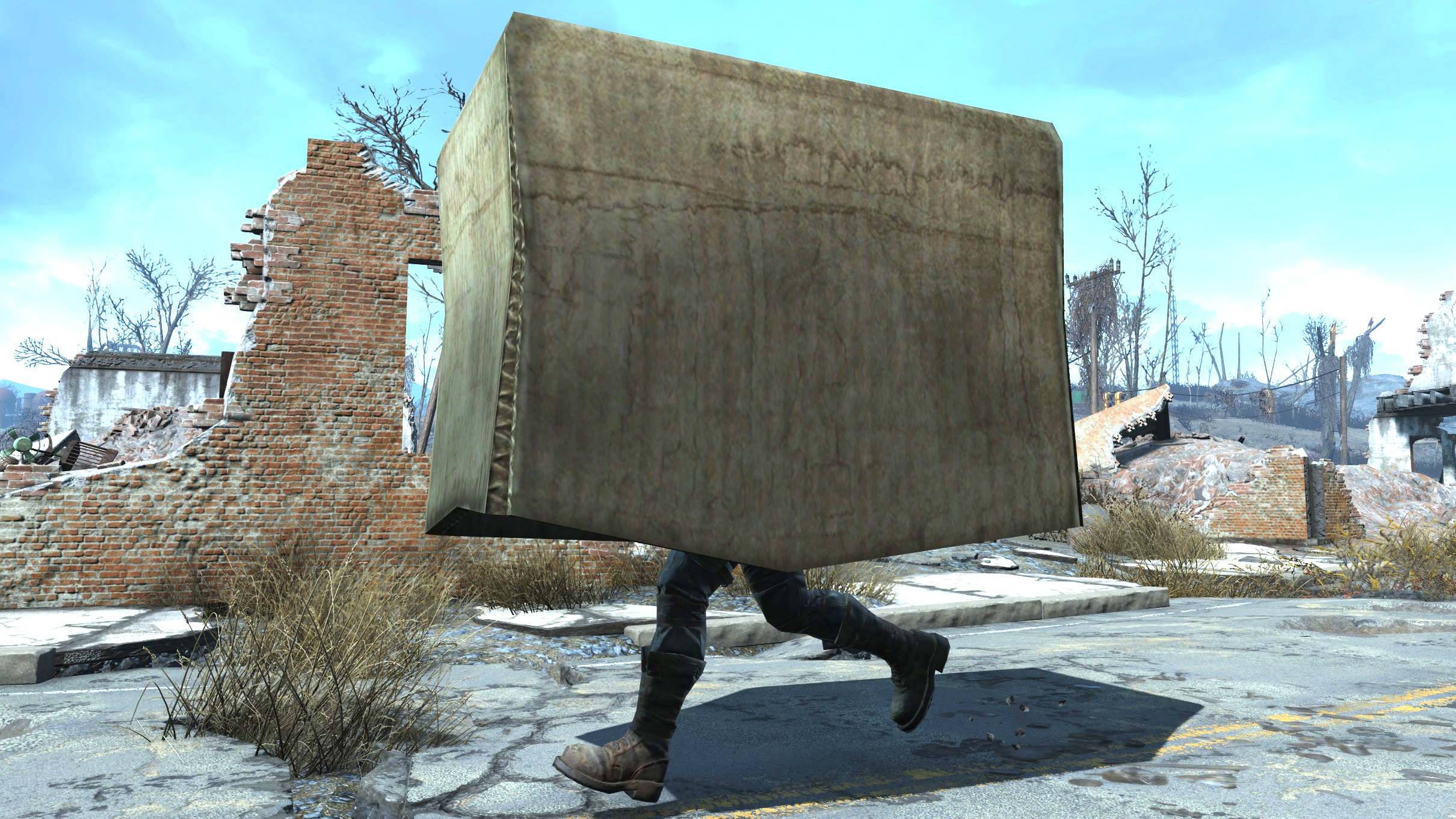 Fallout 4 gets Snake-level stealth with the Metal Gear Solid cardboard box mod