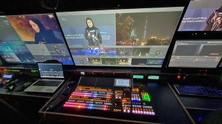 FOR-A HVS-490 in Cubic Media Production's broadcast truck