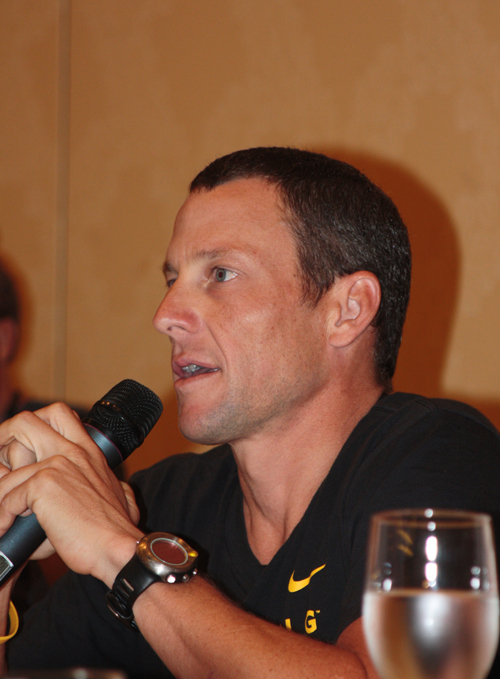 Lance Armstrong Las Vegas press conference 2008