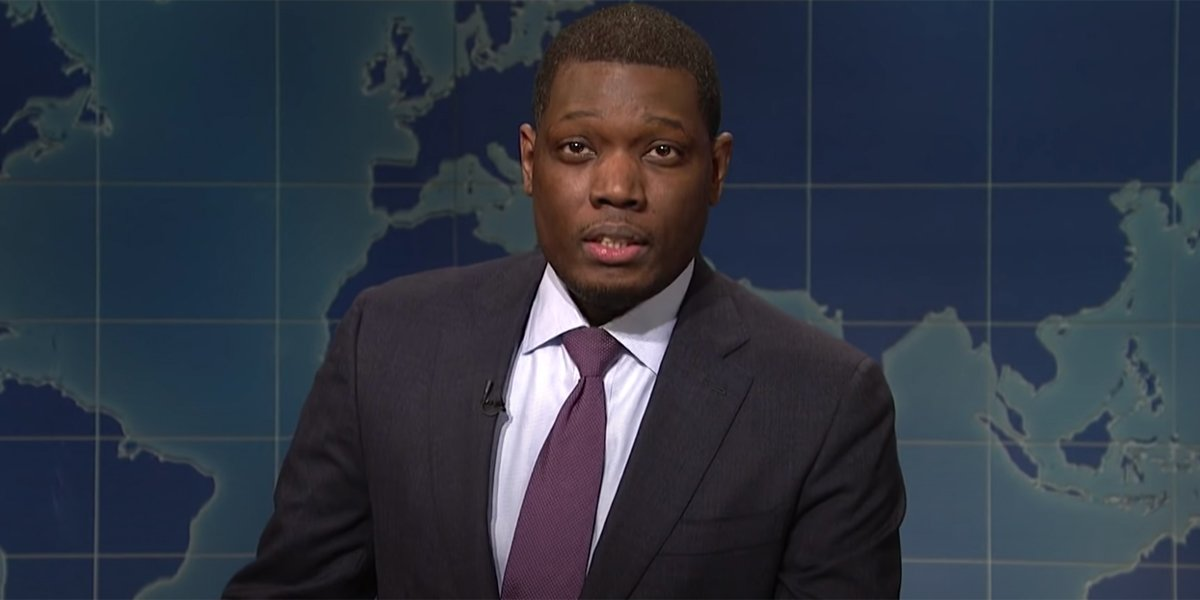 Michael Che on Weekend Update talking about bidets