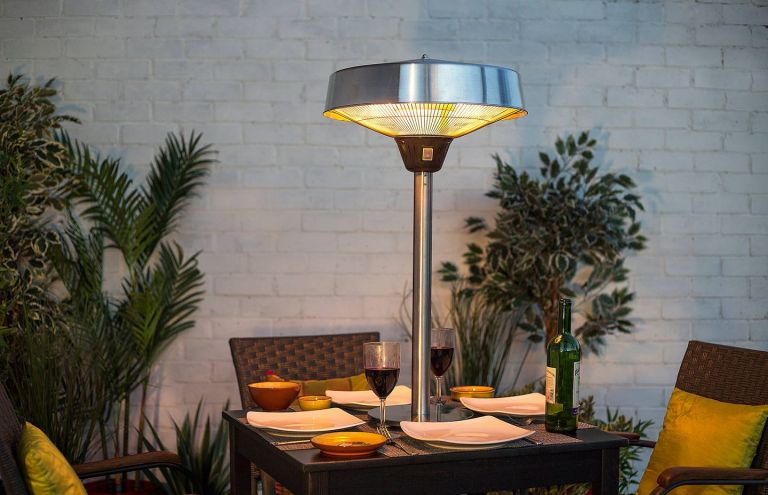electric patio heaters: La Hacienda Table Top Electric Heater