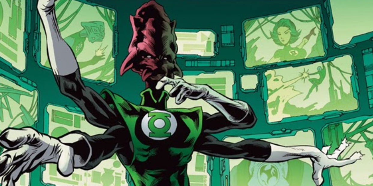 Salaak monitors other Green Lanterns dc comics