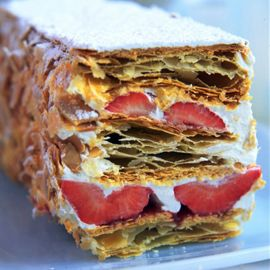 Phil Vickery-fresh strawberry millefeuille-phil vickery recipe-strawberry recipes-woman and home