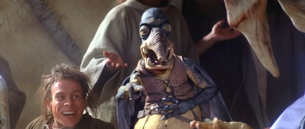 Watto and Weazel watching the pod race in Star Wars: The Phantom Menace