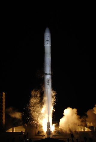 A Sea Launch AG rocket launches the Intelsat 19 satellite.