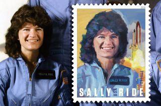designing sally ride stamp