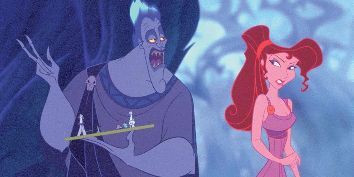 Hades and Megara in Hercules 1997 animated film